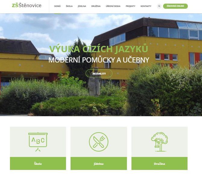 Nový web ZŠ Štěnovice